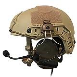 特殊部隊愛用のデザイン ZTAC COMTAC Ⅱ ヘッドセットOPS CORE STANDARDタイプ タクティカルヘルメット ARCレールアダプター (DE) 【日本総代理店正規品】