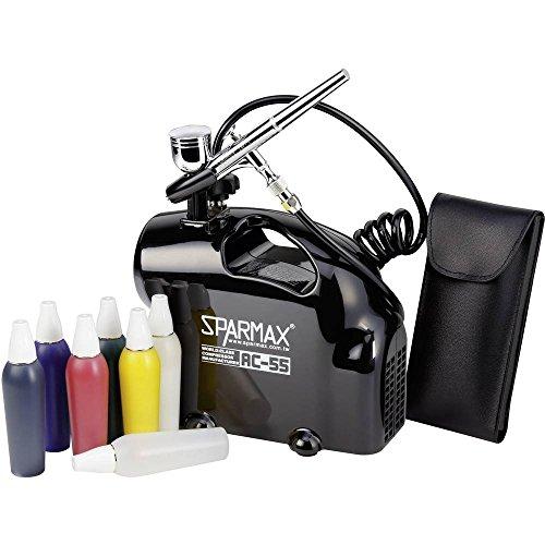 Airbrush-Einsteiger-Set mit Kompressor Sparmax SK-55 Double Action