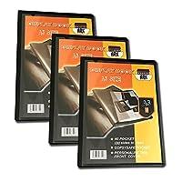 Le paquet contient 3pour livres Cette A5livre a copysafe poches d'affichage avec une couverture amovible, pour une personnalisation facile. Le livre d'affichage est polyvalent vous permettant d'afficher les menus, des certificats, des partitions, d...