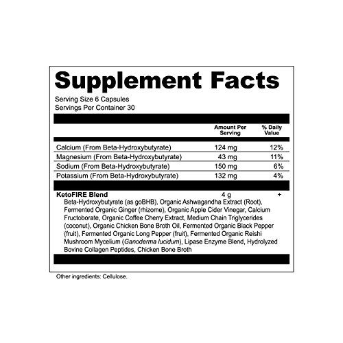 Ancient Nutrition KetoFIRE Capsules, Keto Supplement with BHB Salts as Exogenous Ketones, Electrolytes and Caffeine, Keto Diet, Ketosis Booster, 180 Count… 4