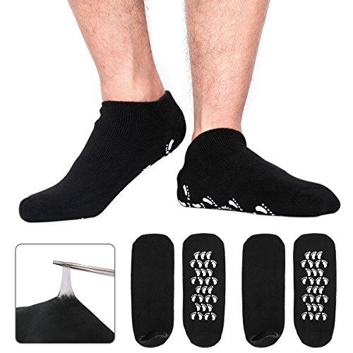 Codream Large Men s Moisturizing Gel Socks Men s Feet Care Ultimate Treatment for Dry Cracked Rough Skin on Feet Pack of 2 Pairs Black US Men 10-15