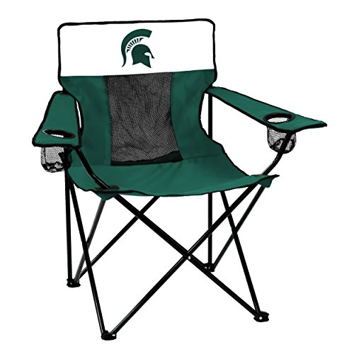 Logo Brands 172-12E Collegiate Michigan State Spartans Elite Chair, Green, covid 19 (Michigan State Spartans Green coronavirus)