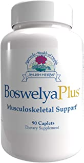 Ayush Herbs Boswelya Plus, Herbal Joint and Cartilage Supplement for Healthy Blood Circulation and Joint Function, Musculo...