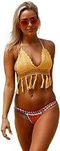 Kaamastra Yellow Crochet Bikini Top with Neoprene Bottom LC41938-7.