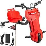 Bisujerro Kart Pedales para Niños Go Kart Pack para Niños Go Kart Racing Deportivo Hoverboard con Silla Potente Batería de Litio Asiento Ajustable Color Rojo