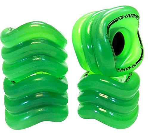 Sharkwheels Longboardrollen Sidewinder 70mm/78A (4er Set) (transparent grün)