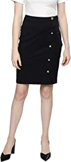 BESIVA Women's Pencil Front Slit Skirt