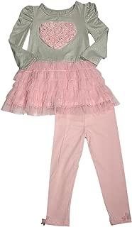 Flapdoodles - Little Girls Striped Long Sleeve Pant Set