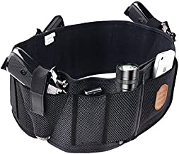 Fullmosa Concealed Carry Holster, Mi Belly Band Holster for Handgun, Elastic Hand Gun Holder Waist Holsters Pistols Revolvers IWB Holster with Mag Pouches, Back Draw -B-XXL