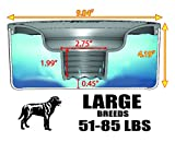 Slopper Stopper Dripless Water Bowls (Stainless Steel Bowl - 1 Gallon, Unit - Large Breed Dogs 51-85 Lbs)