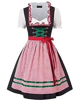 Women s German Dirndl Dress Traditional Bavarian Oktoberfest Costumes for Halloween Carnival S