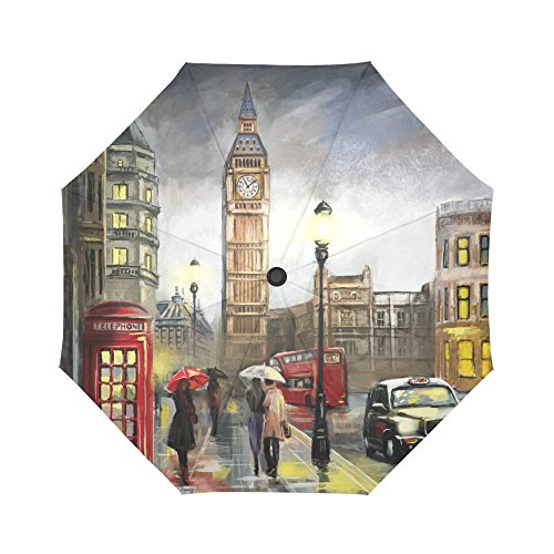 InterestPrint Street View of London City Art Windproof...