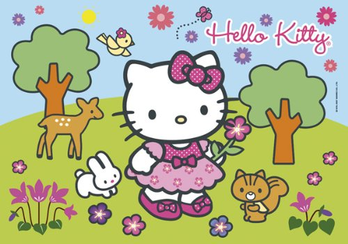 PUZZLE 104pz Clementoni-Profumati Hello Kitty Flowers