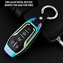 Atonix Glossy Metallic TPU Full Protection Smart Keyless Entry Remote Sleeve Case Fit for BMW 1 3 4 5 6 7 Series and X3 X4 M5 M6 GT3 GT5 Red