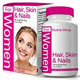 Hair, Skin and Nails Vitamins for Women, Strengthening Formula with Biotin to Support Natural Hair Growth, Vibrant Skin & Strong Nails, Daily Multivitamin Made in USA - 60 Veggie Capsules