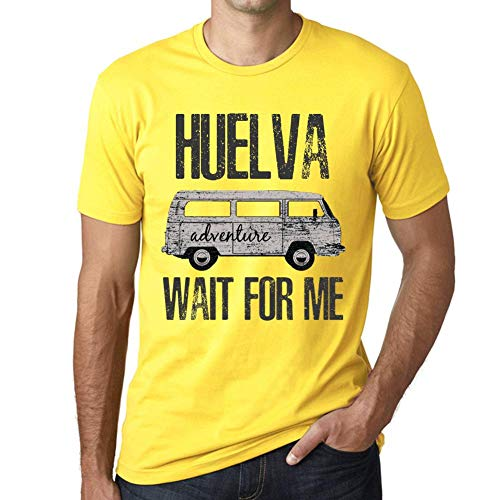 One in the City Hombre Camiseta Vintage T-Shirt Gráfico HUELVA Wait For Me Amarillo