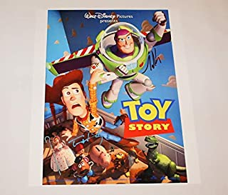 Toy Story Sheriff Woody Tom Hanks Buzz Lightyear Tim Allen Hand Signed Autographed 16x20 Poster Photo Loa