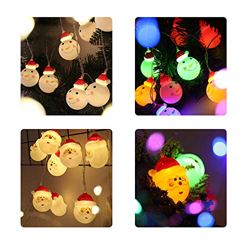 Stringa Di Natale Luci A Led Testa Di Babbo Natale Candela Batteria Luce Luce Decorativa Per Feste Di Nat