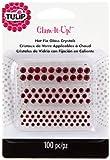 Tulip Glam It Up Hotfix-Glaskristalle, Rot, wie Detail, Einheitsgröße, 100 Stück