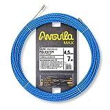 Anguila 75045007 Guía pasacables Especial Curvas Poliéster Triple Trenzada 4,5mm 22 terminales Mixtos, Azul, 7 Metros