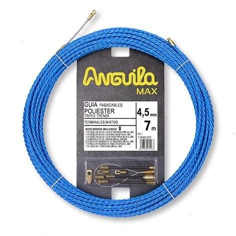 Anguila 75045007 Guía pasacables Especial Curvas Poliéster Triple Trenzada 4,5mm 22 terminales...