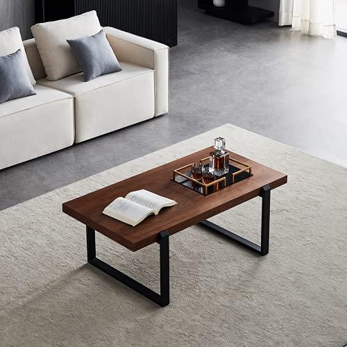 Moiitee, tavolino da caffè, 110 x 60 x 45 cm, tavolo da cocktail per soggiorno, tavolino minimalista con struttura in metallo per casa, ufficio, piccolo spazio