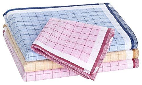 Tobeni 12 Stück Damen Taschentücher Stofftaschentücher Damentaschentücher Baumwolle Farbe Design 9 Grösse 30 cm x 30 cm