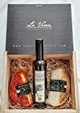 Caja Regalo Gourmet. (PACK A:1/2Kg Oro Andaluz (Curado bañado en aceite de oliva) + Queso 1/2Kg Oro Andaluz (Curado cubierto de PIMENTÓN dulce) + 0.5L AOVE Ecológico premium Arbosana
