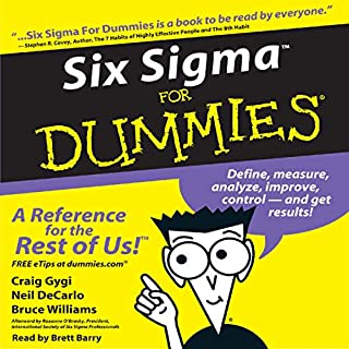 Six Sigma for Dummies audiobook cover art