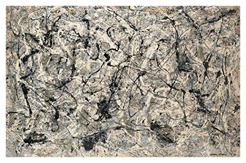 JH Lacrocon Número 28 1950 de Jackson Pollock - 120X80 cm Pinturas Abstracto a Mano Reproducción sobre Lienzo Enrollado Decoración Pared para Salón