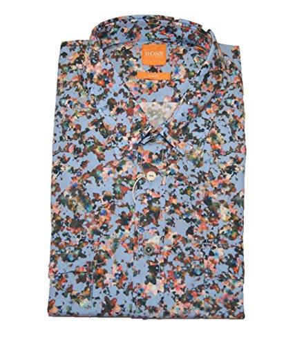 Boss Orange Hemd EDASLIME 451 T-shirt à manches longues Bleu - Bleu - XL