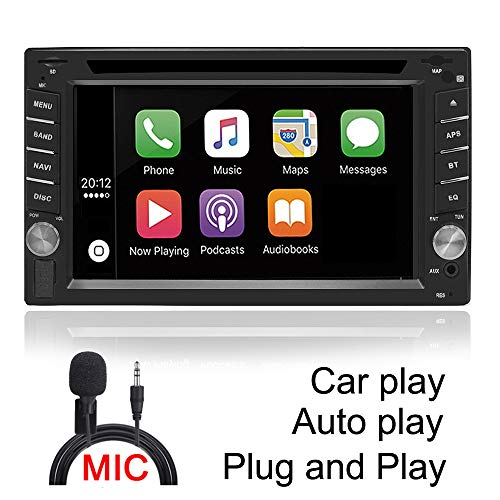 DAYO Android Auto & Carplay Radio Double Din Car Stereo DVD MP3 CD Receiver w/Bluetooth,AM/FM Radio Tuner,USB Video Audio SA102