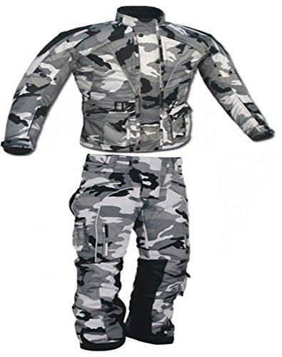 AZ Importers Motorfiets Mens Camouflage Waterdicht CE Goedgekeurd Armour Beschermende Cordura Textiel pak