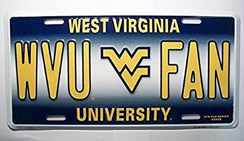 WVU West Virginia Mountaineer's Fan License Plate