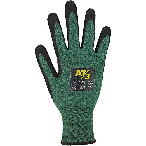 'Asatex 309910Guanti Antitaglio'livello 3, Verde/Nero, Taglia 10