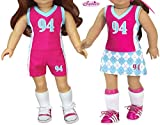 Sophia's Doll Sports Uniform, 3 Piece Sports Outfit for 18 Inch Dolls | Shirt, Shorts, Skirt | Gift Bag...