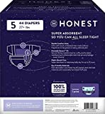 Honest Overnight Baby Diapers, Club Box, Sleepy Sheep, Size 5 (44 Count)
