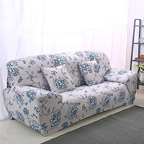 WXQY Elastischer Sofabezug mit Schmetterlingsdruck All-Inclusive L-förmiger Sofabezug Sesselbezug fest gewickelt Rutschfester Couchbezug A2 3-Sitzer