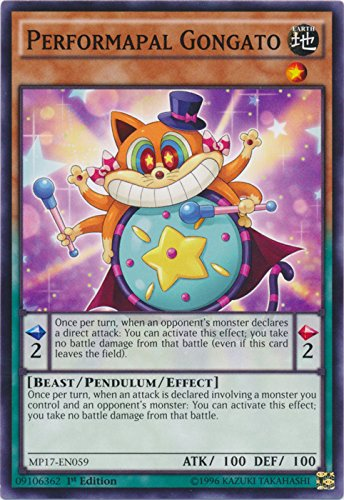 yu-gi-oh Performapal Gongato - MP17-EN059 - Common - 1st Edition - 2017 Mega-Tin Mega Pack (1st Edition)
