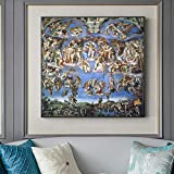 Puzzle 1000 piezas Las famosas pinturas de Miguel Ángel en la Capilla Sixtina puzzle 1000 piezas animales Rompecabezas de juguete de descompresión intelectual educativo divert50x75cm(20x30inch)