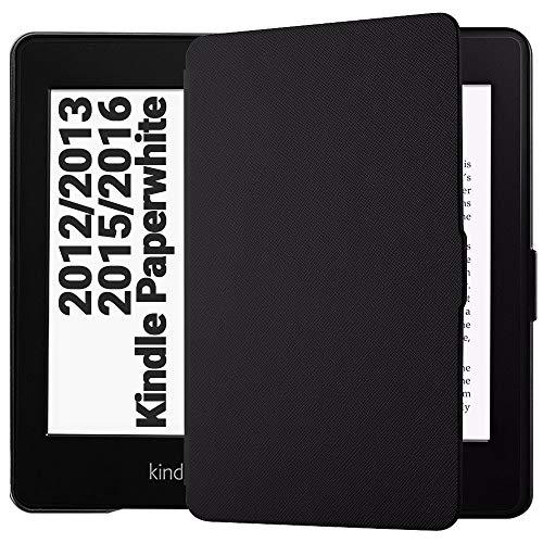 Preisvergleich Produktbild EasyAcc Hülle für Kindle Paperwhite,  Ultra Dünn Schutzhülle Mit Sleep / Wake up Funktion Kompatibel mit Kindle Paperwhite für Alle Vorgängermodelle von 2012,  2013 und 2015 - Schwarz