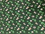 TT Textiles 100x150cm Jersey mit Kühe auf Dunkel Grün