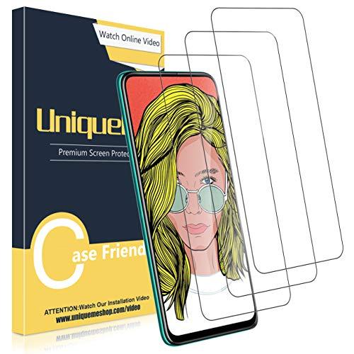 UniqueMe [3 Pack] Protector de Pantalla Compatible con Huawei P Smart Z/P Smart Pro, Vidrio Templado [9H Dureza] HD Film Cristal Templado