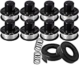 """Weed Eater Replacement Spools for Black Decker RS-136 GE600 CST800 ST1000 ST4000 ST4500 ST6800 RS-136 with 20ft 0.065"""" String Trimmer LineEdger Refills Parts Auto-Feed,RS-136-BKP Replacement Spool"""