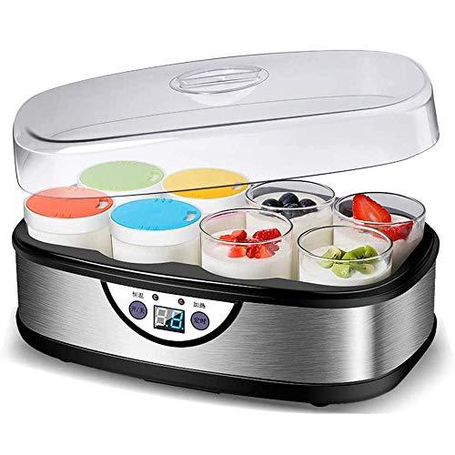 SCJ Auto Yogurt Maker, Digital Yogurts Machine Benutzerdefiniertes Aroma und Dicke mit automatischem Timer 8 Gläser 48 Unzen, für hausgemachtes Baby 220V