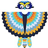 Owl Wings Bird Costume for Kids Girls Boys with Masks for Child Dress Up Party Favors … (Orange-blue)
