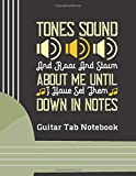 """Tones Sound & Roar and Storm: (6 String) Guitar Tablature Blank Notebook/ Journal / Manuscript Paper/ Staff Paper - Lovely Designed Interior (8.5"""" x ... Players, Musicians, Teachers & Students)"""