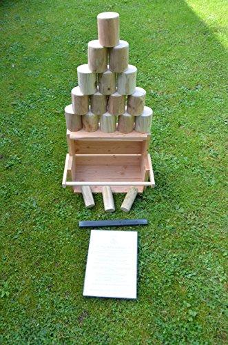 Dosen werfen aus Holz , Outdoorspiel