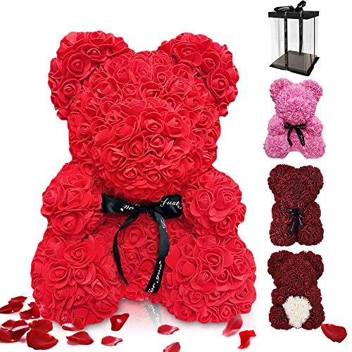ASANMU Orso Rosa Regalo, Orsacchiotto Composto da Rose Artificiali, Orsacchiotto Rosa su...