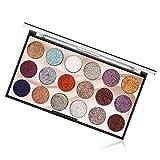 Eyeshadow Palette Paletas de sombras de ojos con brillo de 18 colores Maquillaje multirreflectante brillo Paleta cosmética waterproof de larga duración para ojos Cejas y esmalte de uñas (01)